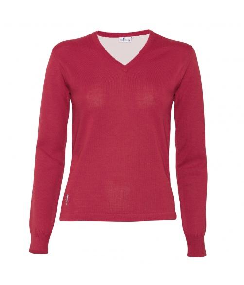 Jersey pico lana merino cortavientos