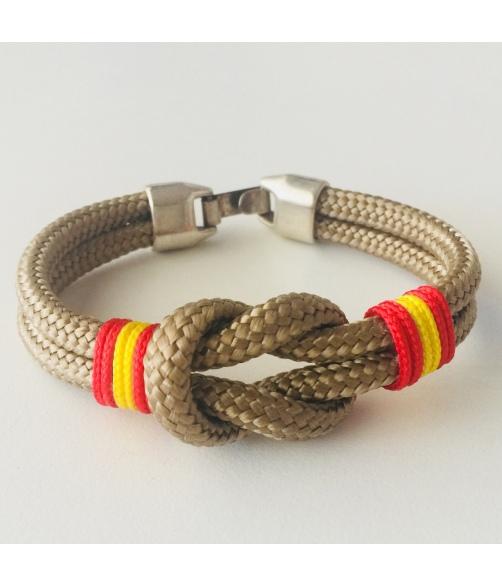 Pulsera cordón nautico nudo