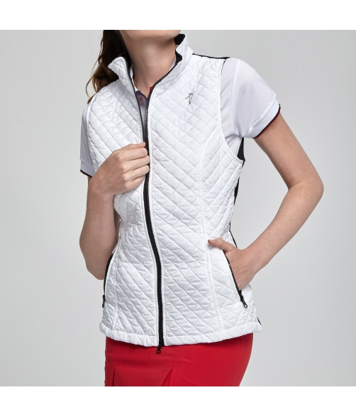 Vest of golf with Quilted of rhombuses fabric.