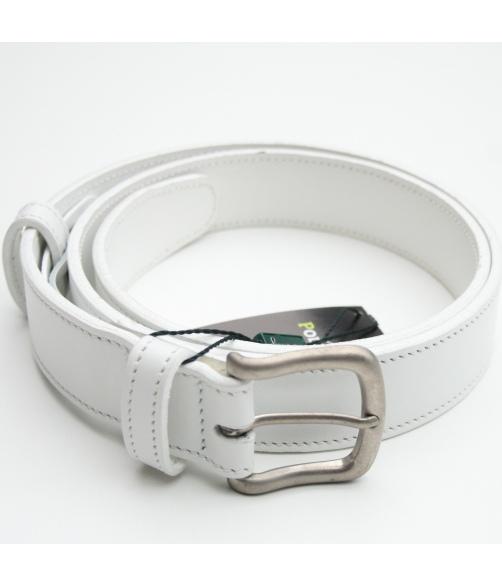 Cinturón piel blanco