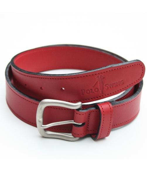 Cinturón piel rojo