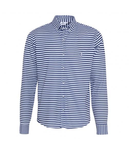 Camisa técnica rayas marino