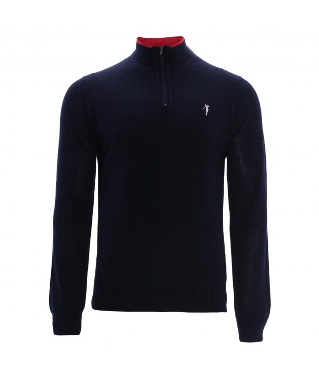 Jersey golf cremallera lana merino