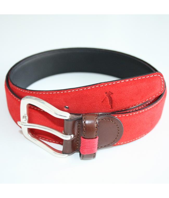Cinturón piel serraje
