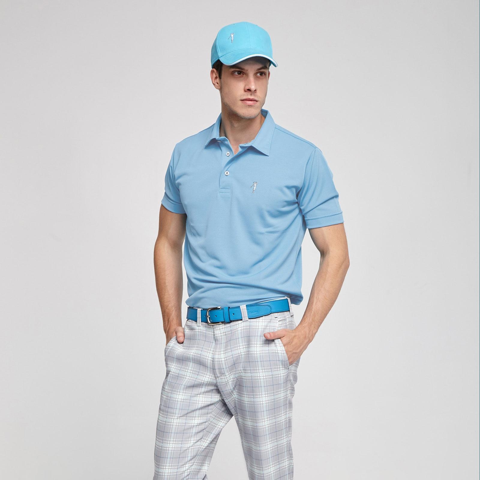 Polo tecnico golf celeste